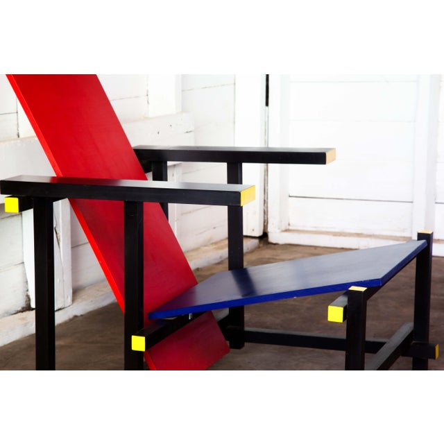 2010s Modern Red & Blue Lounge Chair For Sale - Image 5 of 11