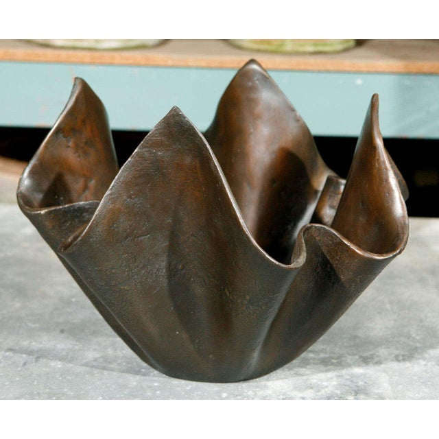Small bronze handkerchief planter, rubbed bronze finish. It will take 7-8 weeks to make this piece