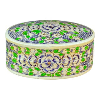 Noor Kashmiri Hand Painted Jewelry Box For Sale