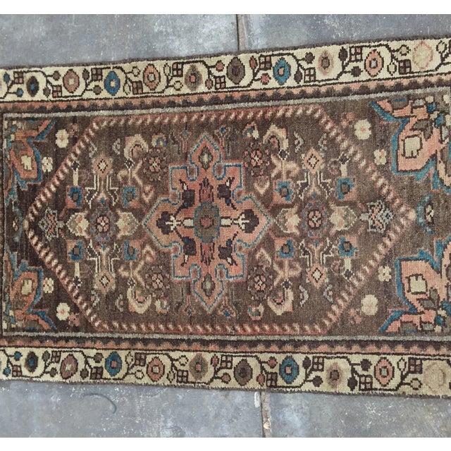 Vintage Hamadan Persian Rug - 1′11″ × 2′11″ - Image 3 of 9