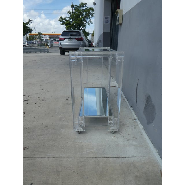 High Quality Lucite Bar Cart For Sale In Miami - Image 6 of 8