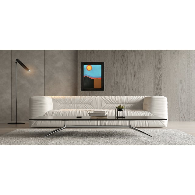 Mid-Century Modern Contemporary Abstract Landscape Acrylic Painting byTony Marine For Sale - Image 3 of 4