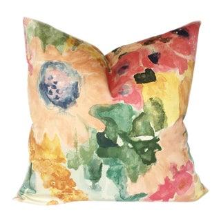 Kravet Watercolor Floral Pillow Cover