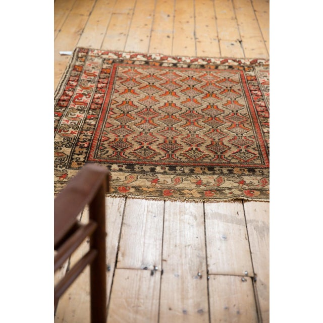 "Antique Hamadan Square Rug - 4'1"" x 4'9"" For Sale - Image 10 of 12"