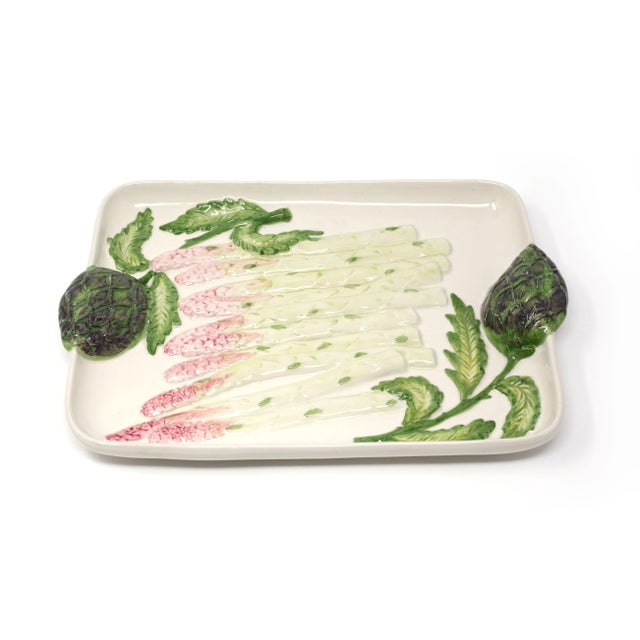Vintage Ceramic Asparagus and Artichoke Tray For Sale - Image 10 of 10