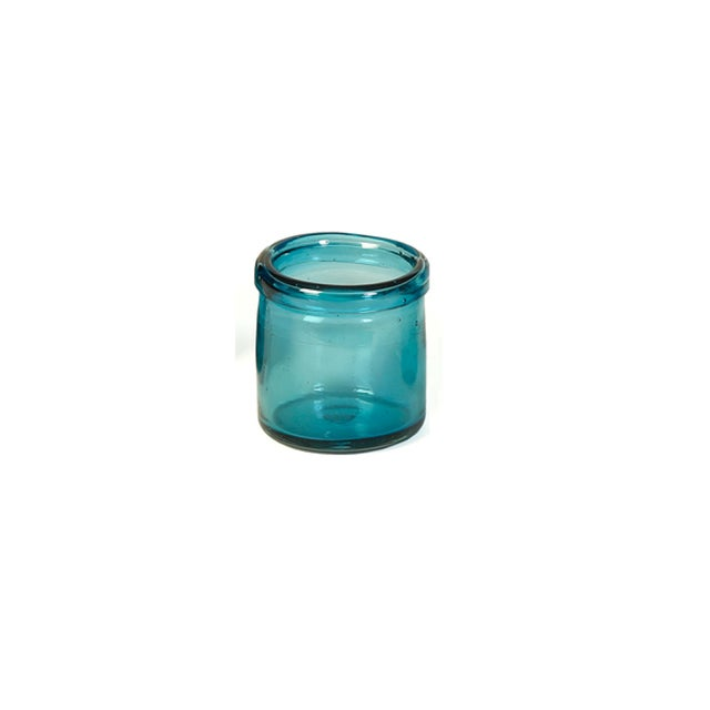 Hand-Blown Blue Glass Votive Holders - Set of 6 - Image 5 of 5