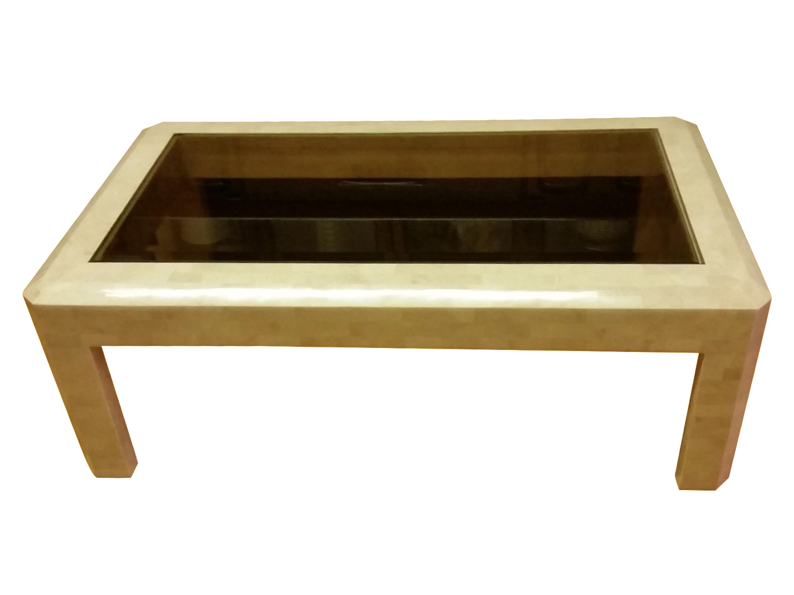 stone coffee table. Maitland-Smith Tessellated Stone Coffee Table - Image 1 Of 10