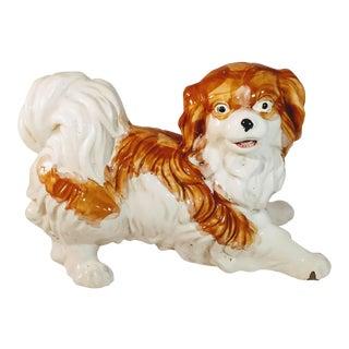 Vintage Italian Pekingese Spaniel Cavalier King Charles Dog Figurine For Sale