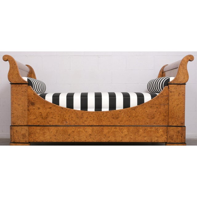 This Circa 1820s French Empire Daybed frame has been professional restore, features a solid wood frame covered in...