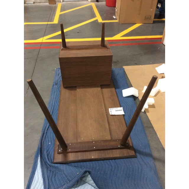 Mid-Century Style Custom Walnut Desk For Sale - Image 10 of 10