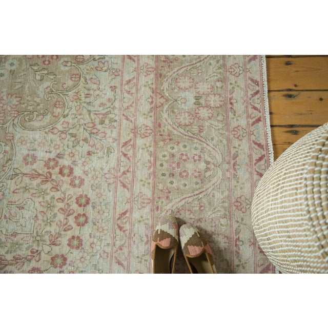 """Vintage Distressed Meshed Carpet - 9'3"""" x 12'5"""" For Sale In New York - Image 6 of 10"""