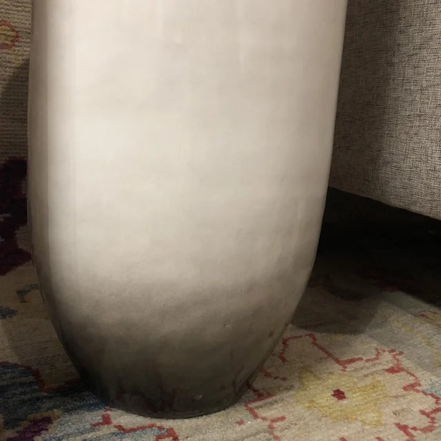 1990s 1990s Contemporary Beige Vases - a Pair For Sale - Image 5 of 7