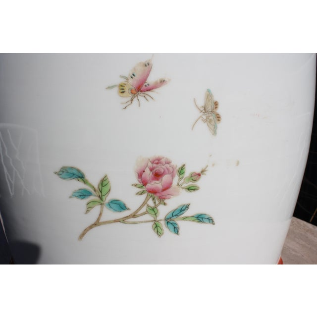 Chinese Famille Rose Porcelain Peacock Garden Seat For Sale - Image 12 of 13