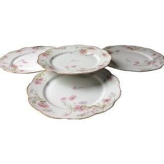 Antique French Porcelain Plates, Limoges - Set of 4 For Sale
