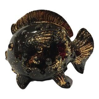 Vintage Mid-Century Black Goldfish Planter For Sale