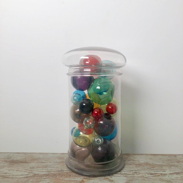 Colored Glass Globes - Collection of 21 For Sale - Image 4 of 5