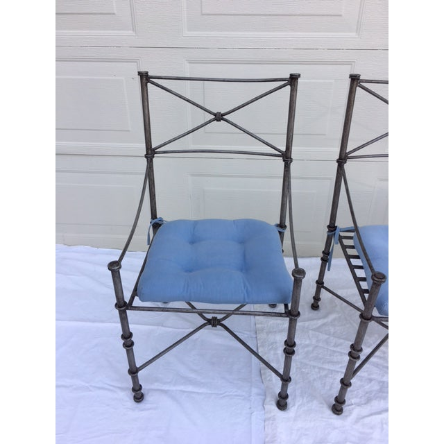 Neoclassical Iron Table & Chairs For Sale - Image 4 of 11