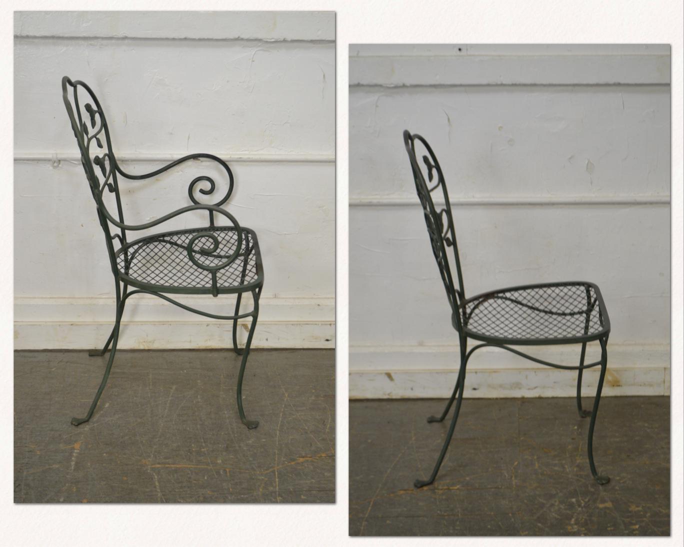 salterini wrought iron furniture. Salterini Wrought Iron Furniture. Ivy Pattern Patio Dining Chairs - Set Of Furniture