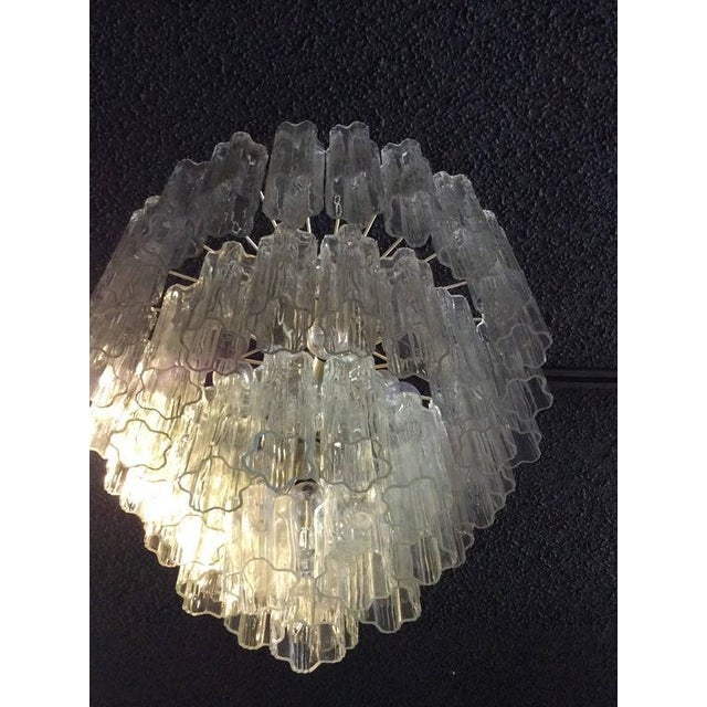 Mid 20th Century Vintage Murano Glass Chandelier Tronchi For Sale - Image 5 of 8