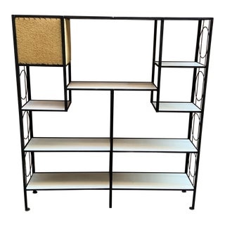 1950s Frederick Weinberg Iron Shelving Unit For Sale