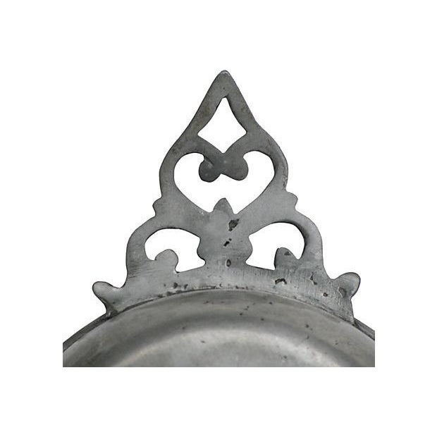 French Antique French Pewter Porringer For Sale - Image 3 of 5