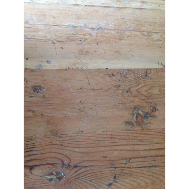 Large Reclaimed Wood Farm Table - Image 4 of 8