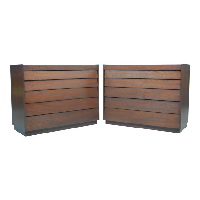 Early Pair of Louver Front Dressers by Edward Wormley For Sale