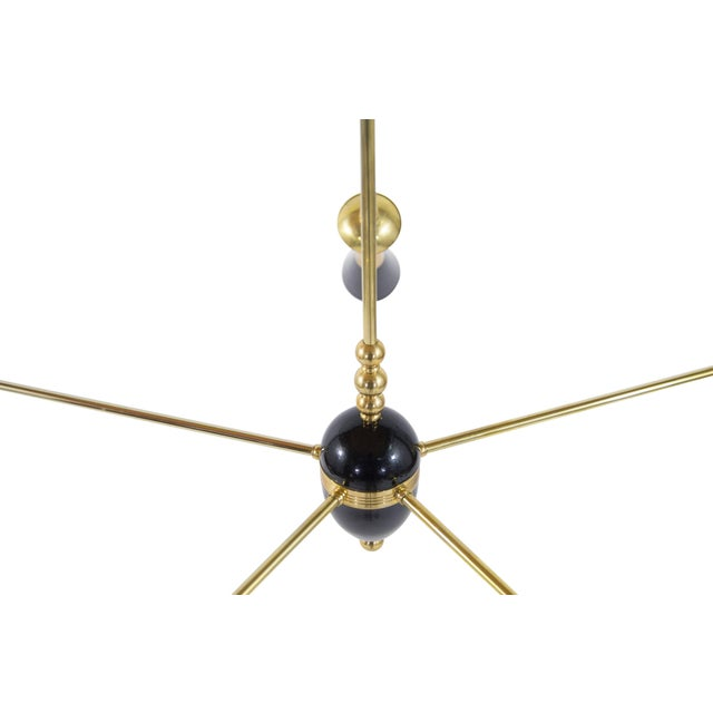 Large-Scale Italian Chandelier, 1950s For Sale - Image 9 of 10