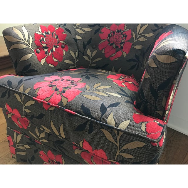 Vintage Mid-Century Upholstered Club Chairs - a Pair - Image 6 of 6