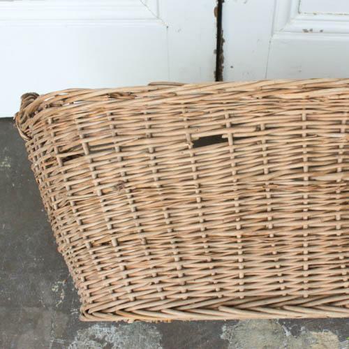 Oval Vintage French Laundry Basket - Image 6 of 8
