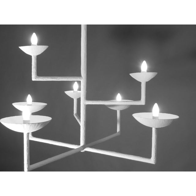 Not Yet Made - Made To Order 7 Cup Plaster Chandelier For Sale - Image 5 of 12