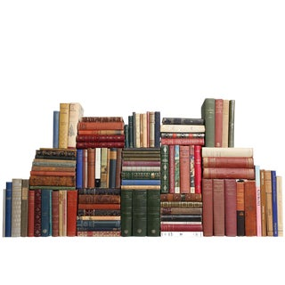 Curated French Library - Set of 100 Decorative Books For Sale