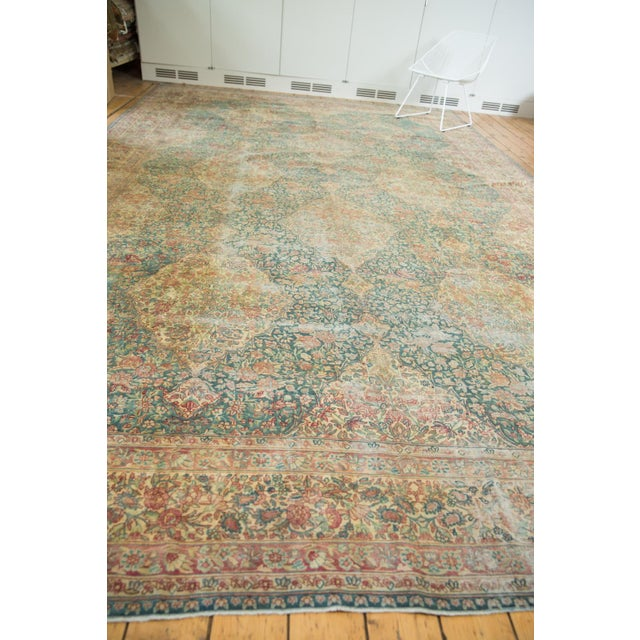 Vintage Distressed Kerman Carpet - 10' X 16' For Sale In New York - Image 6 of 13