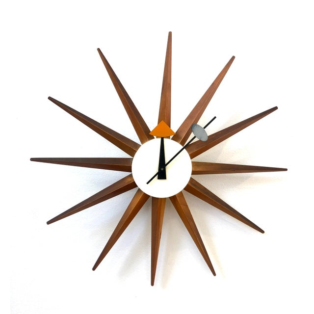 1950s George Nelson Starburst Clock For Sale In San Francisco - Image 6 of 6