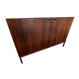 1960s Mid-Century Modern Florence Knoll Two Position Rosewood Credenza For Sale