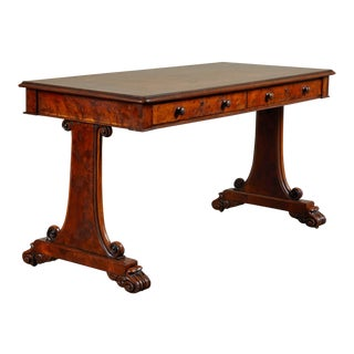 Early 19th Century English Yew and Elm Writing Table For Sale