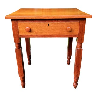 Early 19th Century Country Sheraton Two-Toned Side Table For Sale