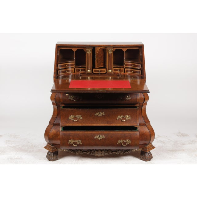Vintage Rococo Bombe Secretary Commode - Image 2 of 11