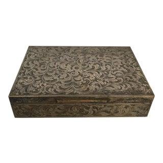 Italian Engraved 800 Silver Box