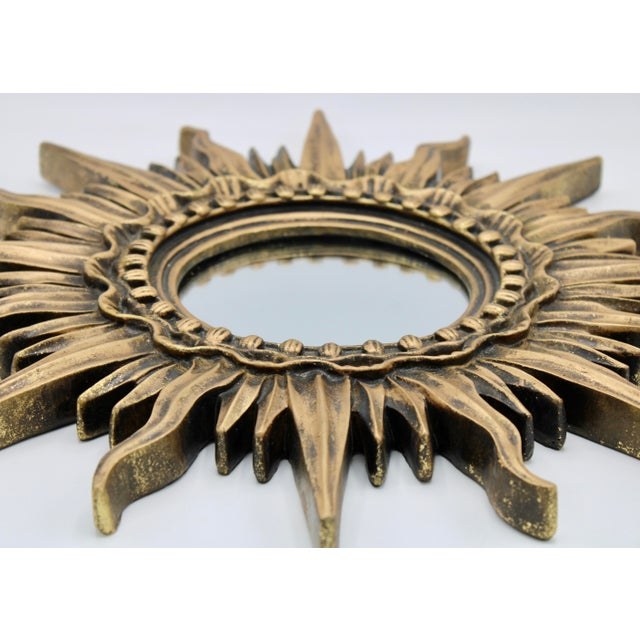 Antique French Sunburst Mirror For Sale - Image 4 of 13