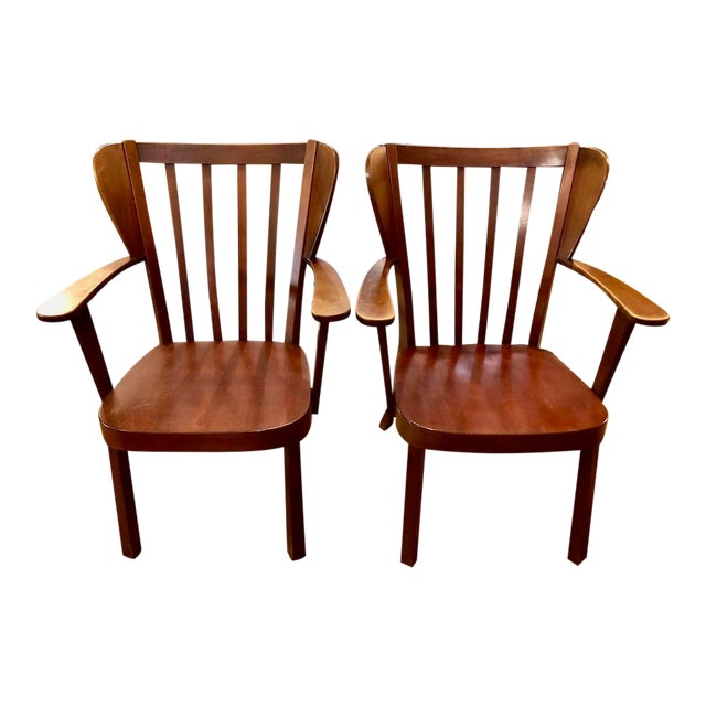 Pair of Danish 'Canada' Armchairs by Christian Hansen for Fritz Hansen-1940's For Sale