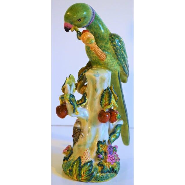 (Final Markdown Taken) Vintage Green Majolica Parrot Figurine For Sale In Houston - Image 6 of 9