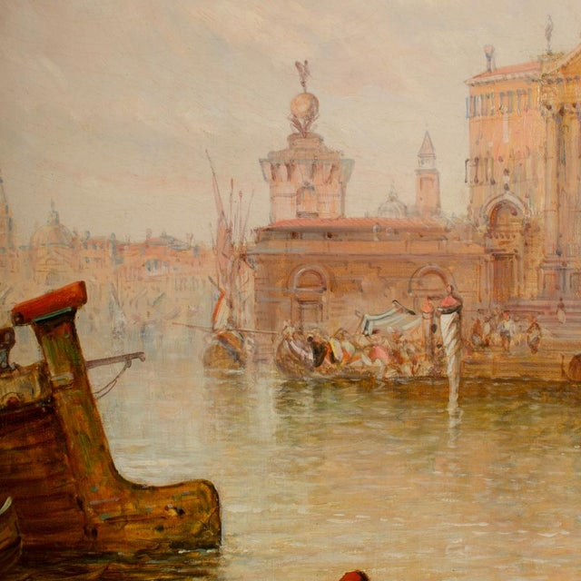"19th Century ""Venice in July"" Cityscape Oil Painting by Alfred Pollentine For Sale - Image 9 of 12"