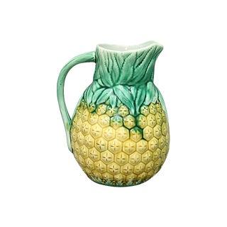 Antique English Majolica Pineapple Jug For Sale