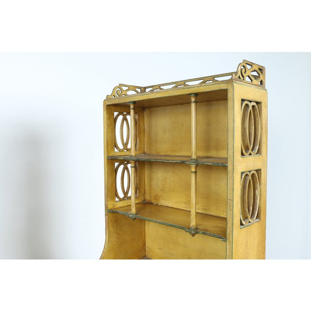 Hand-Painted Yellow Cabinet - Image 11 of 11