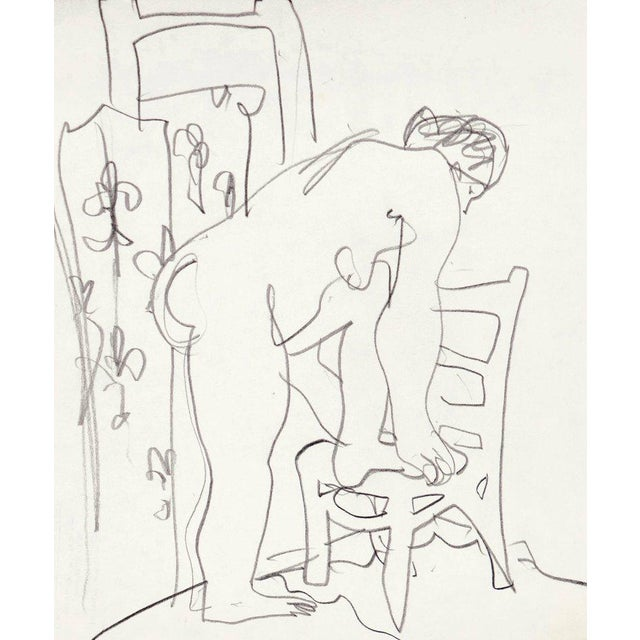 Paper 'Après Le Bain' by Victor DI Gesu, Chouinard Art School, California Post-Impressionist, Los Angeles County Museum of Art For Sale - Image 7 of 7