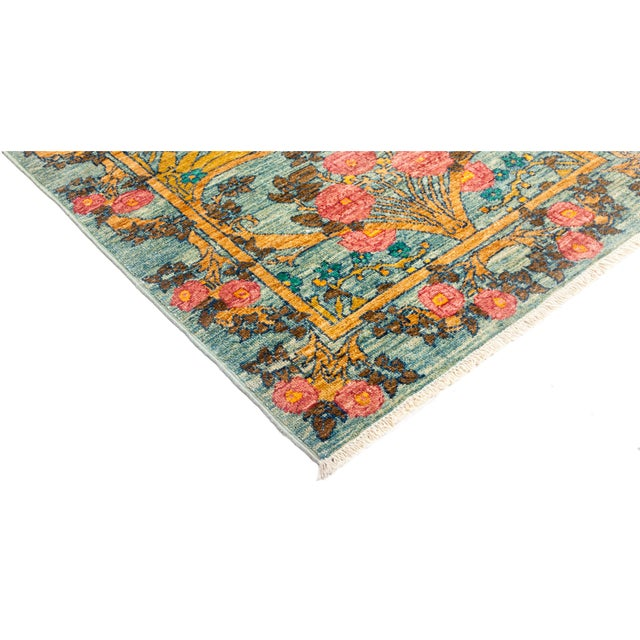 """Arts & Crafts Hand Knotted Runner Rug - 2' 8"""" X 11' 9"""" - Image 2 of 4"""