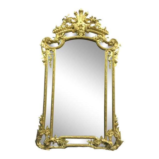 6 ' Tall French 19th C. Gilt Mirror For Sale