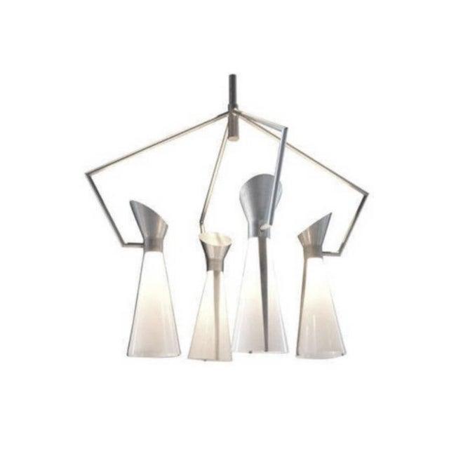 Mid Century Extreme Modernism Victor Gruen for John Lautner Chandelier Hanging Lamp For Sale - Image 10 of 11