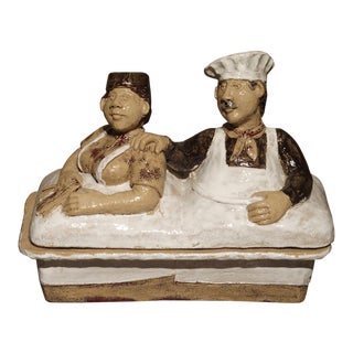 French Painted Baking Terrine From Provence For Sale